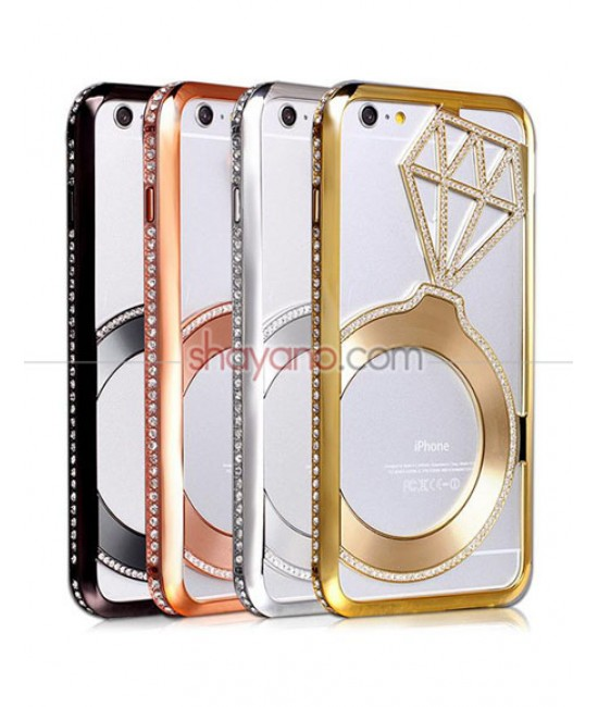 قاب گوشی آیفون Luxury Diamond Bling Aluminum Metal Case For iPhone 6/6s کد 608